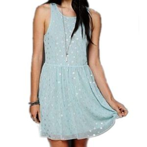 Free People Reversible Polka Dot/Lace Dress